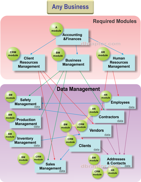 The Universal schema of information control system in any business